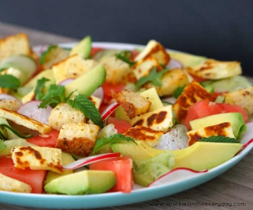 Grilled Haloumi, Raddish and Watermelon Salad Recipe!