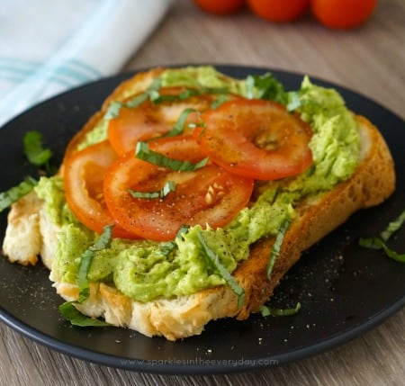 Smashed Avocado and Tomato for a Healthy Breakfast recipe
