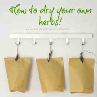 How to dry your own herbs easily!