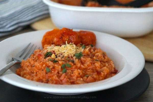 Oven Baked Bacon and Tomato Risotto Gluten Free