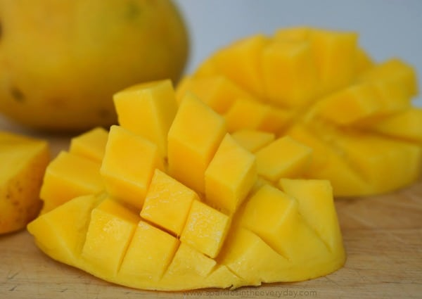 Ripe mangos ready for Easy Mango Chicken Curry (GF)