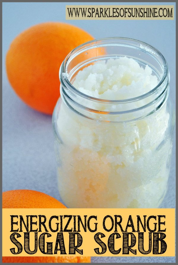Check out this energizing orange sugar scrub recipe at Sparkles of Sunshine. Keep your skin soft with this moisturizing sugar scrub!