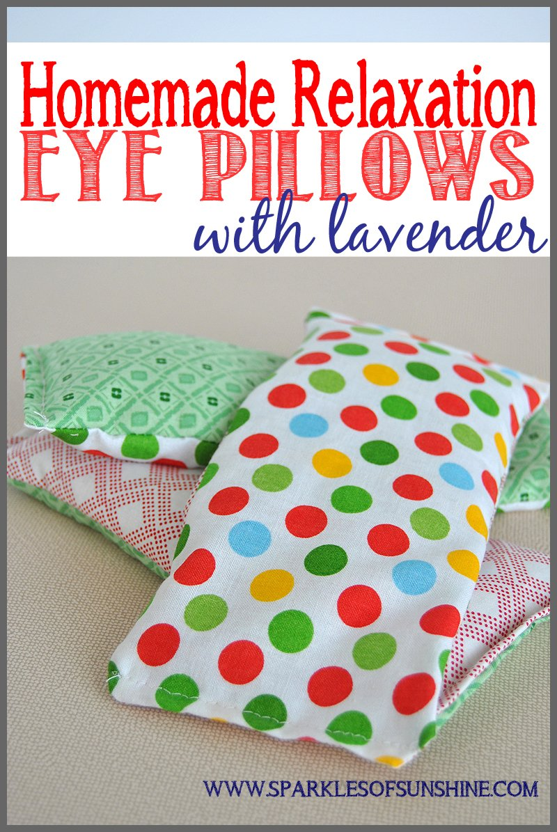 homemade relaxation eye pillows with