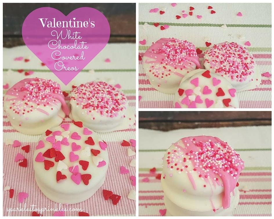 Valentine S White Chocolate Covered Oreos Sparkles To Sprinkles