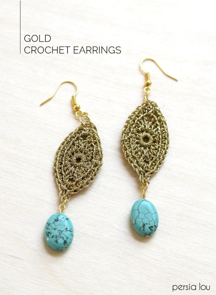 gold-crocheted-earrings