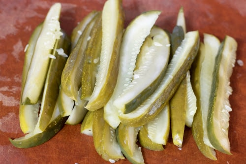 Air Fryer or Ninja Foodi Pickles with Dill Dip