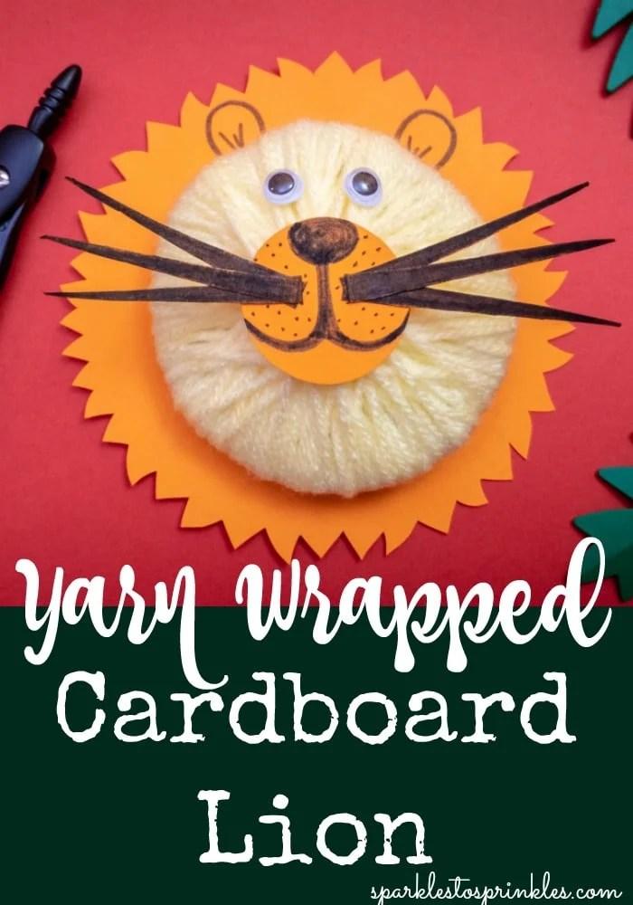 Yarn Wrapped Cardboard Lion
