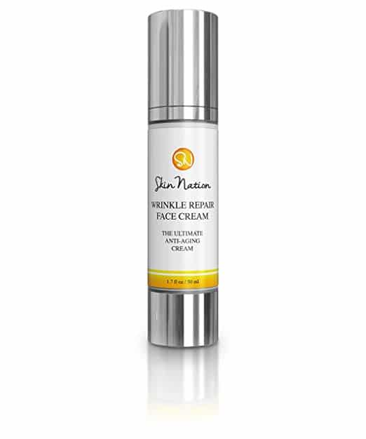 Wrinkle Repair Face Cream   Anti Wrinkle Facial Moisturizer with Glycolic Acid   with Organic Natural Ingredients - Aloe Vera, Vitamin E, Coconut Oil, Shea Butter   Skin Nation by Michelle Stafford