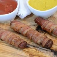 Ninja Foodi & Air Fryer Bacon Wrapped Hot Dogs