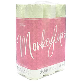 Monkeylips Green Tea Toilet Paper, 30 Counts, 3 Ply Sheets