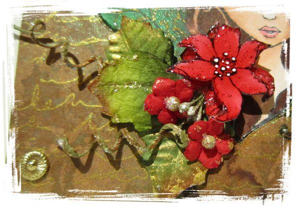 Sweet Pea Suprise Christmas Blog Hop Poinsettia Card