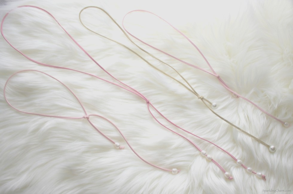 DIY Suede and Pearls Necklace