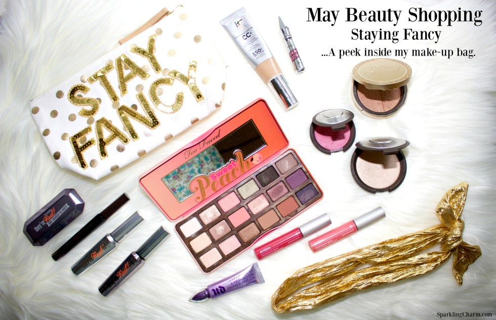 May Beauty Shopping: Staying Fancy, A Peek inside my make-up bag.