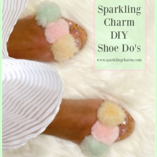 DIY Shoe Do's: Sparkling Charm Samantha's Bewitched Faux Fur Beauties