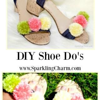 DIY Shoe Do's: Sparkling Charm Lucy's Ricky Ricardo's