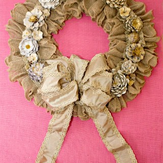 DIY Pinecone Flower Wreath