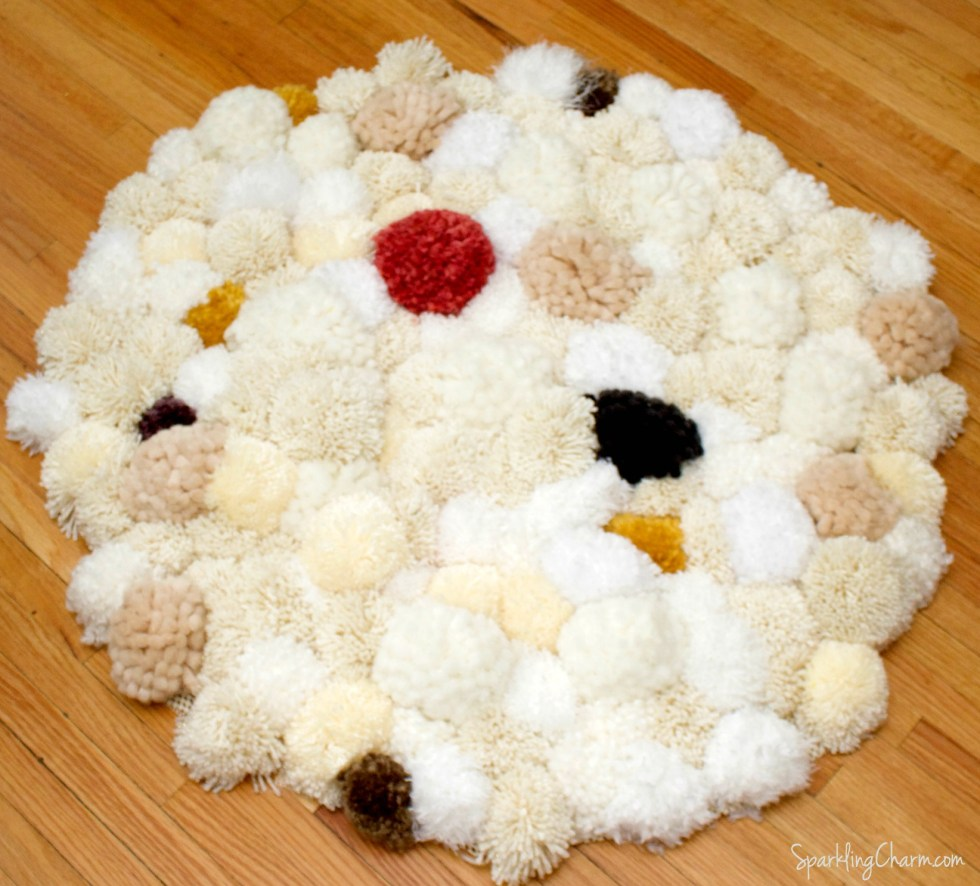 DIY Easy Peasy Pom Pom Rug