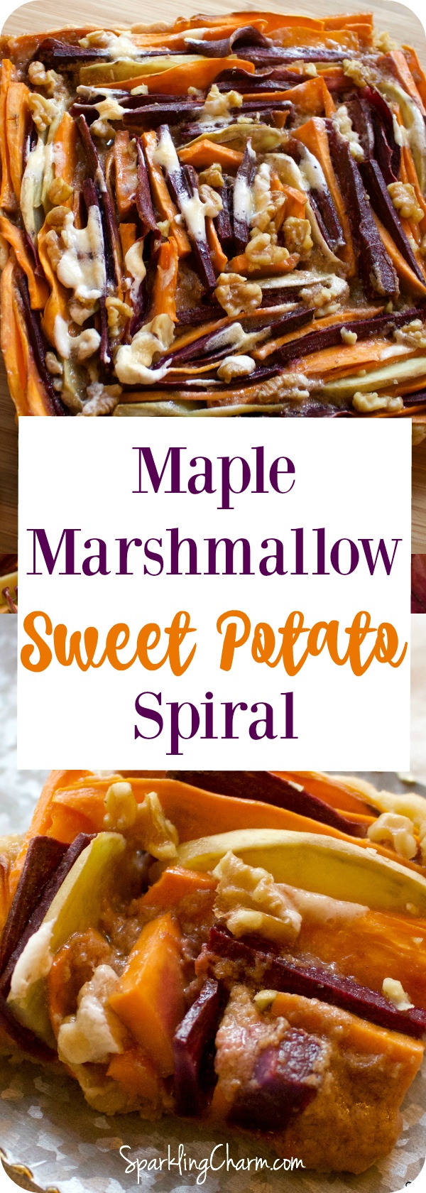 Maple Marshmallow Sweet Potato Spiral