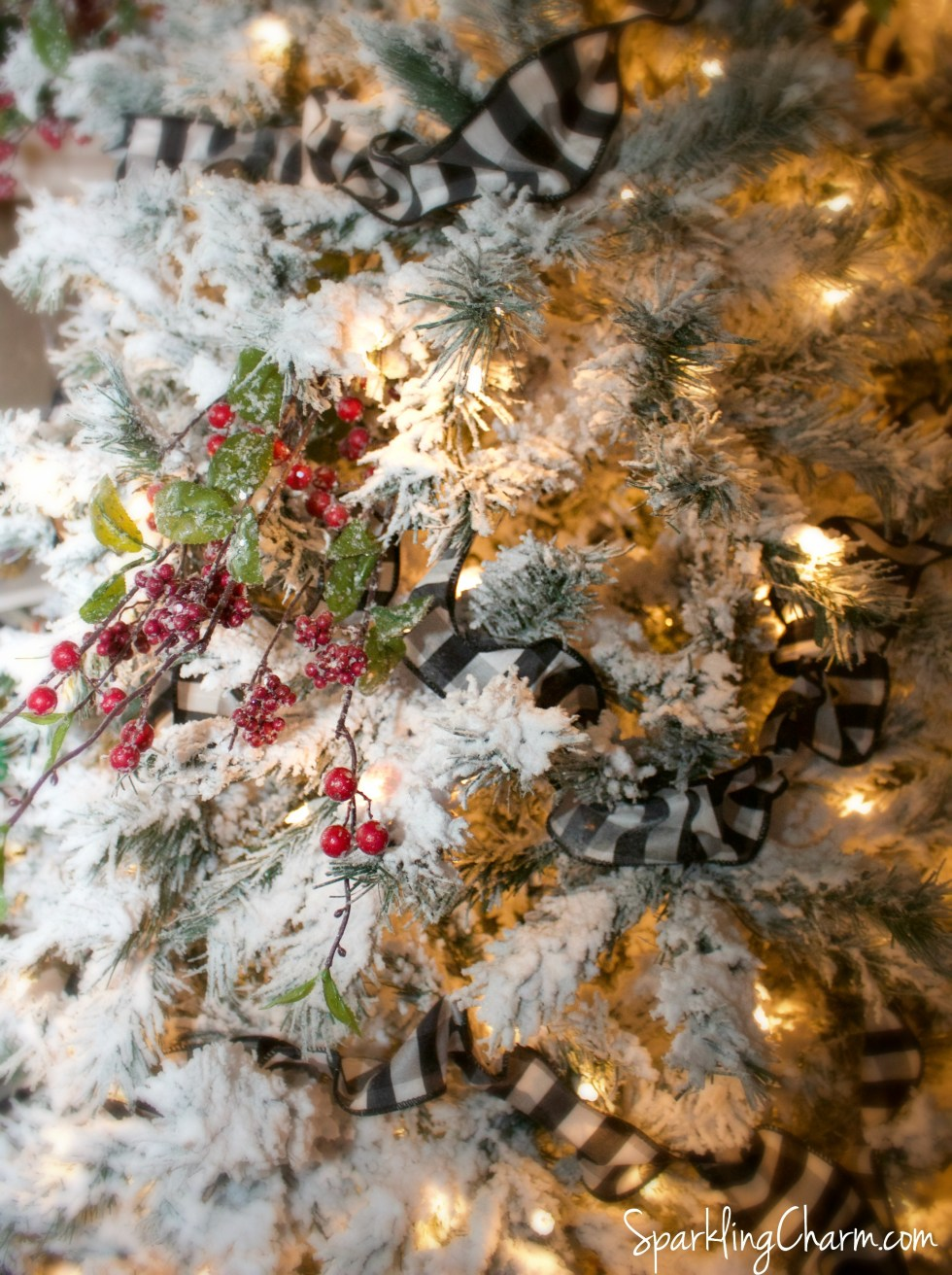 How to Flock A Christmas Tree: Vintage Charm