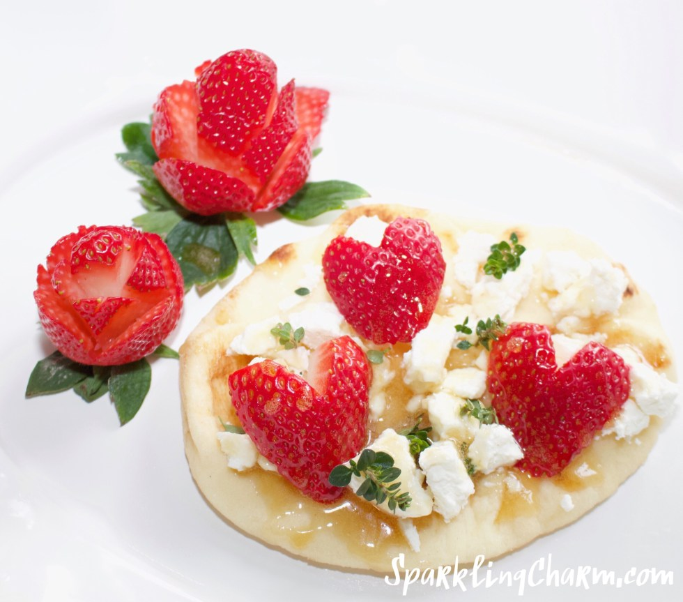 Strawberries & Honey Goat Cheese Naan