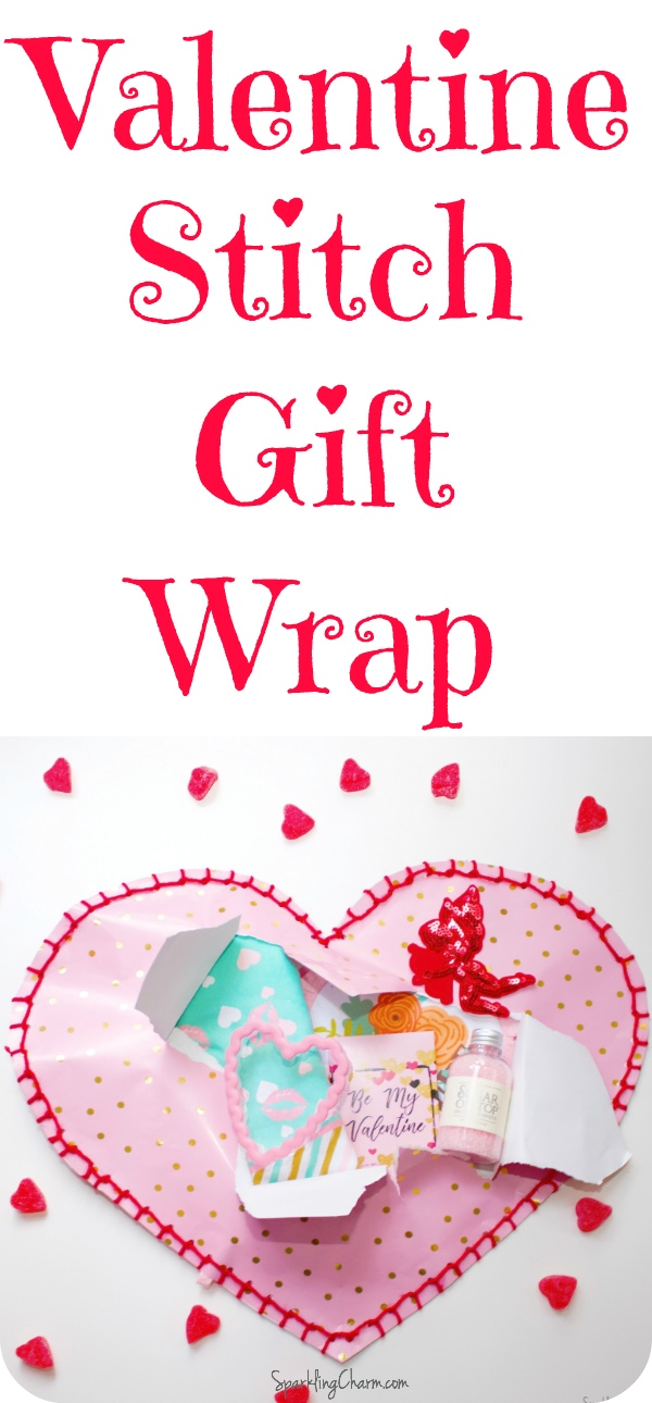 DIY Valentine Blanket Stitch Wrap