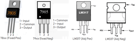 Electronics components pin out for Electronics Board Assembly