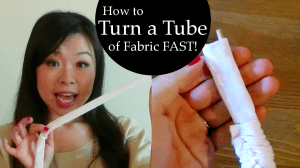 How to Turn a Tube of Fabric without Tube Turner