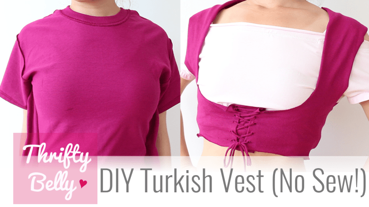 DIY Turkish Vest for belly dance - sew & no sew