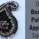 DIY beaded paisley applique for belly dance costumes
