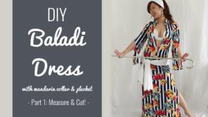 DIY Baladi Dress with mandarin collar and placket