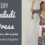 DIY Baladi Dress with mandarin collar and placket sew