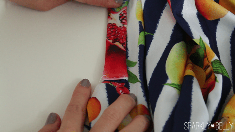 How to sew on a diy placket close up