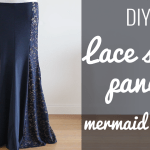 DIY Lace side panel mermaid skirt color block BDCW hack