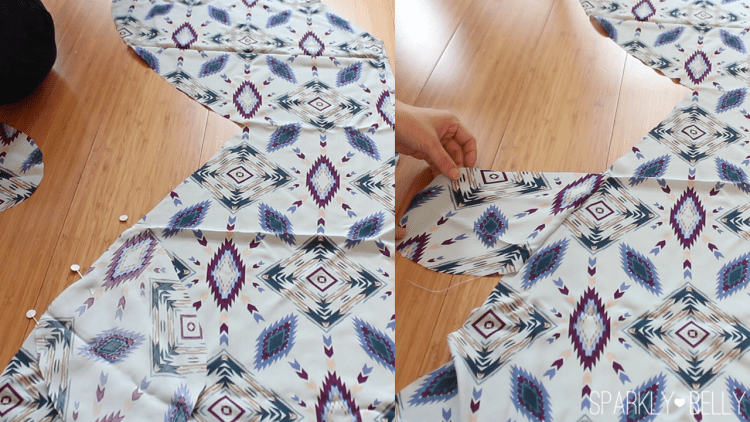 How to sew pockets to Caftan dress