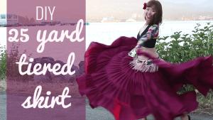 DIY 25 yard skirt - gypsy, atm, belly dance