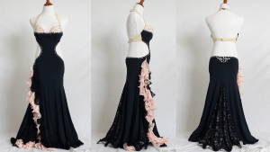 Hourglass Belly Dance Dress Style #2 all sides