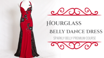 Hourglass Belly Dance Dress - Sparkly Belly Premium Course