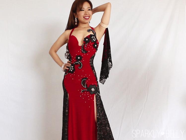 Hourglass Belly Dance Dress with drape armband DIY