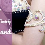 DIY Sparkly Swirly Armband- belly dance, ballroom jewelry