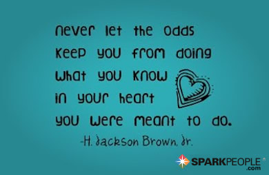 Motivational Quote - Never let the odds keep you from doing what you know in your heart you were meant to do.