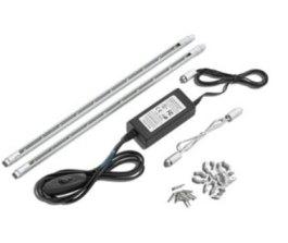 New LED Striplight Kits, White or Blue LEDs, silver LED starter kits at Sparks! - LED Striplight Starter Kit with White LEDs(3000K), silver LED starter kit