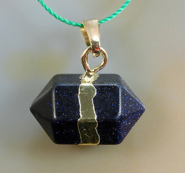 Natural Blue Sand Eye Prism Reiki Chakra Pendant With DNA Activation