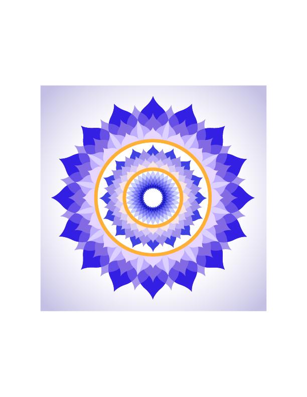 Lotus Petal Crown Chakra