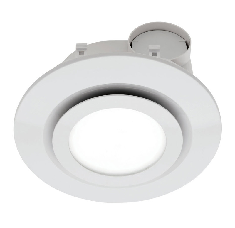 mercator be190espwh starline round exhaust fan with 16w led 5000k white