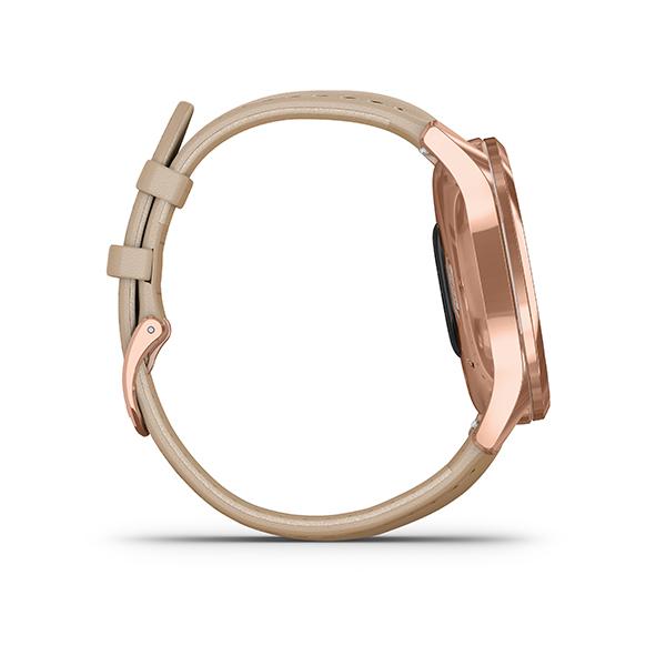 Garmin Vivomove Luxe beige met roségouden kast - Te koop bij Sparnaaij juweliers in Aalsmeer en Hoofddorp