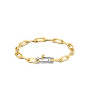 Zilver closed forever armband van Ti Sento met laag 18k. verguld goud - Te koop bij Sparnaaij Juweliers in Aalsmeer en hoofddorp