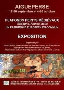 EXPOSITION : PLAFONDS PEINTS MÉDIÉVAUX  Espagne, France, Italie  UN PATRIMOINE EUROPÉEN EN COMMUN @ Maison Plaine-Limagne