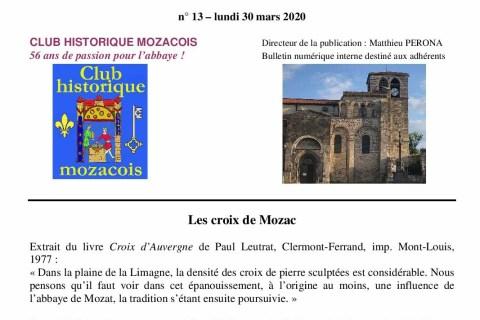 LECTURES EN LIGNE DU CLUB HISTORIQUE MOZACOIS