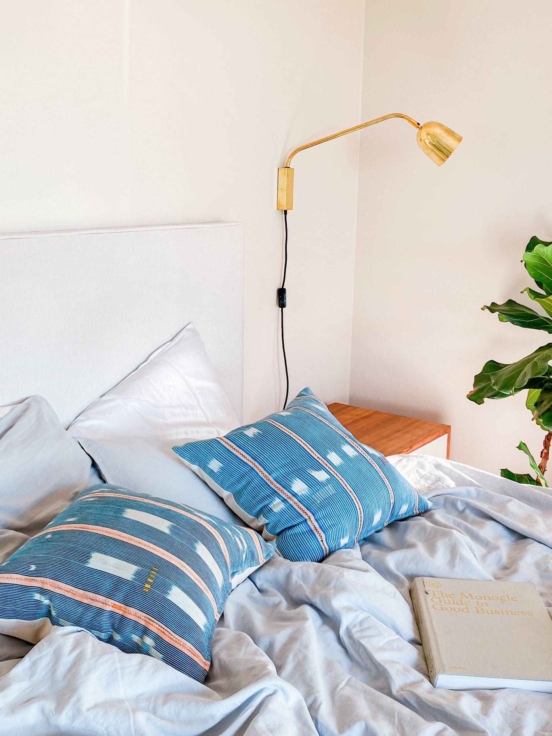 Baule pillow mudcloth throw pillow indigo Spases South Africa