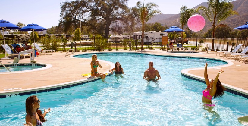 RV Resort Pool, Pala Casino Spa Resort, Spas of America